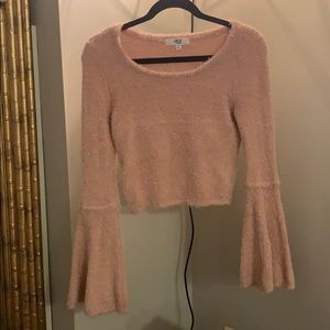 Pink cropped Jack by BB Dakota sweater
